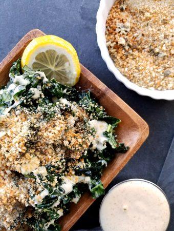 Crunchy Kale & Caper Deli Salad