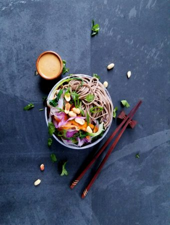 Soba Noodles with Spicy Peanut Sauce
