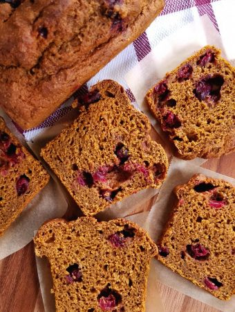 Spiced Pumpkin Cranberry Loaf